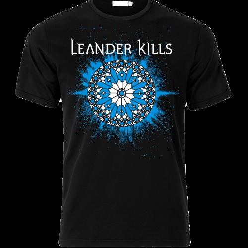 LeanderKills – Élet póló (kék logo) front