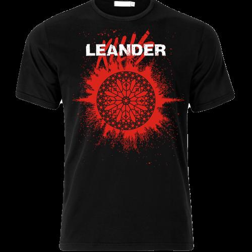LeanderKills – Élet póló (piros logo) front