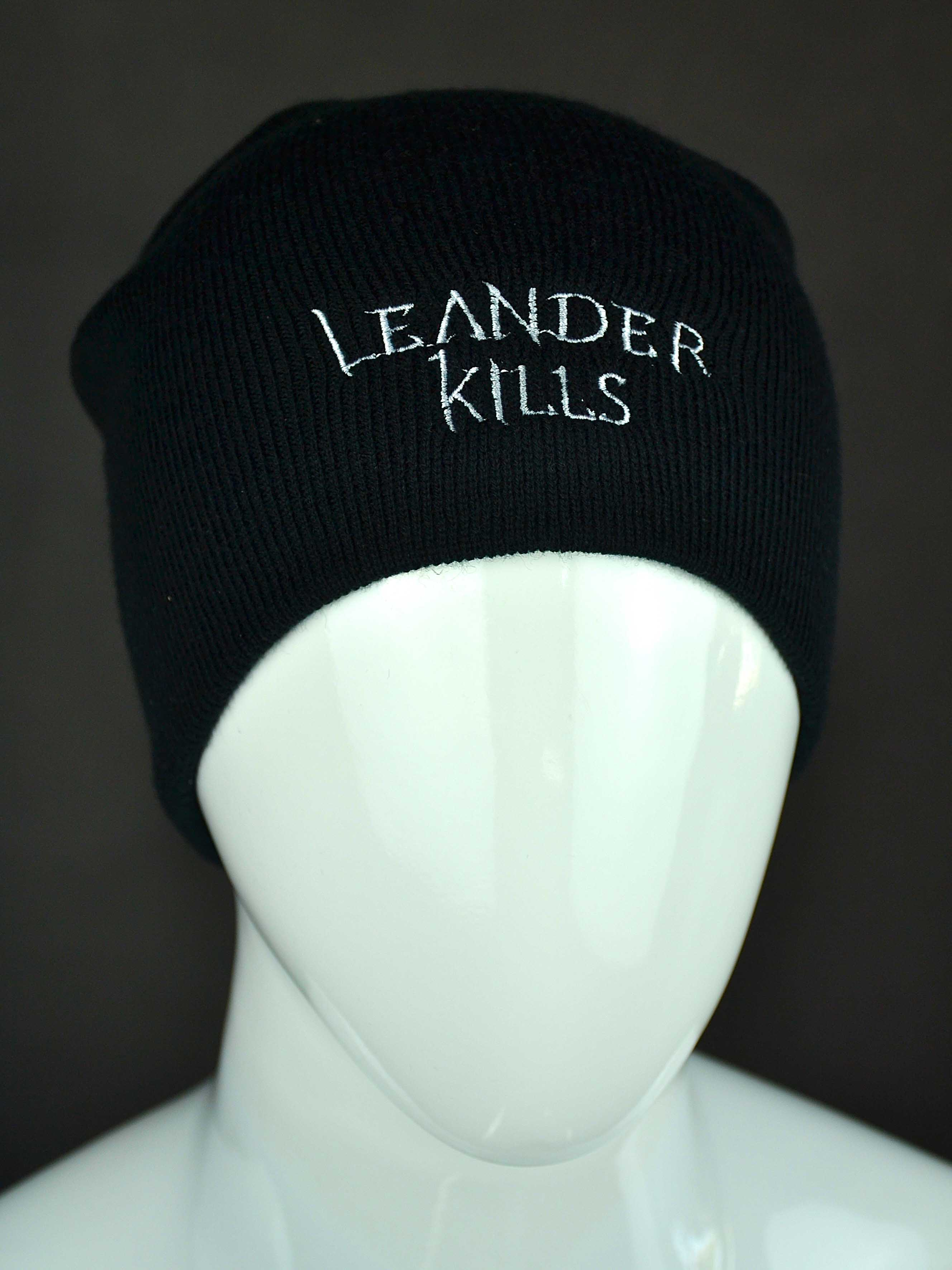 Leander Kills - téli sapka (fehér logó) ⋆ Leander Kills Webshop 04fb09100c
